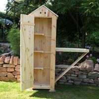 Tool Shed with drop-down potting table
