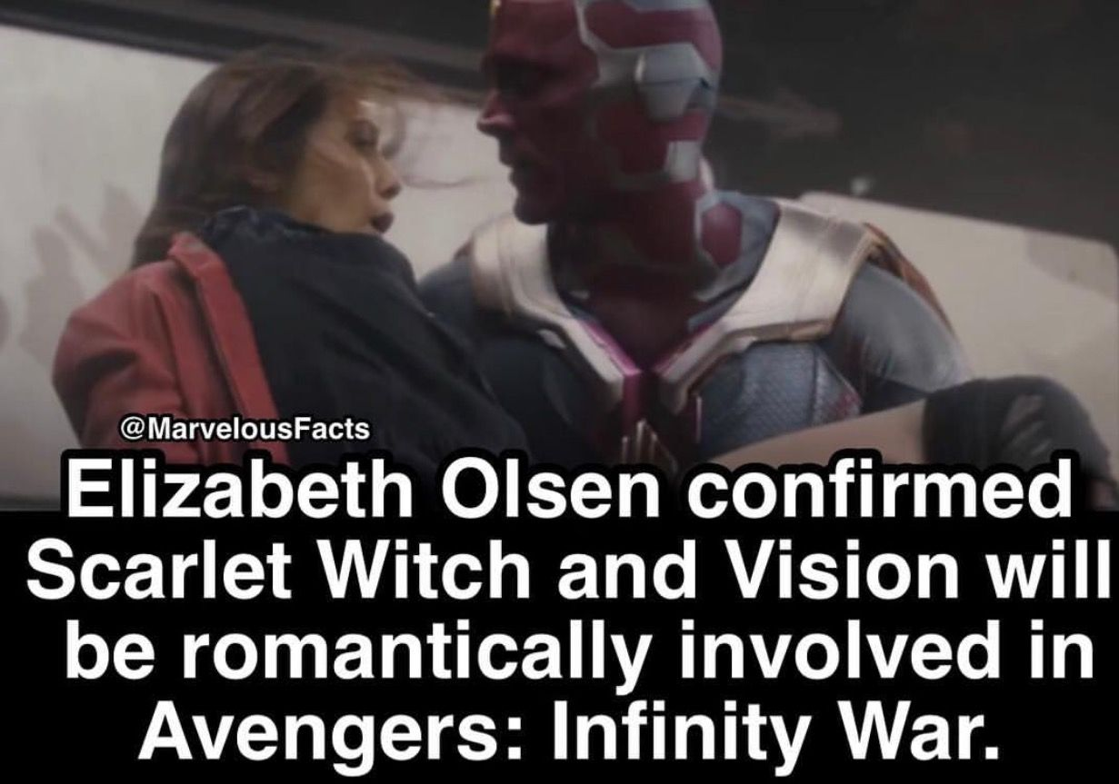 don't get me wrong i love how much vision cared about wanda in civil war and making food and comforting her and all that sweet shit but isn't it kinda weird?? that the vision is technically not really alive?? they even refer to vision as it instead of him because isn't he literally an artificial intelligence in an android body with that asgardian stone?