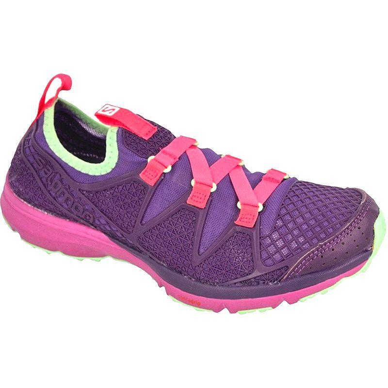 Sportowe Damskie Salomon Fioletowe Buty Salomon Crossamphibian W L38159100 Boots Hiking Boots Shoes