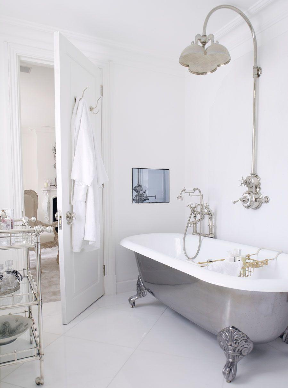 Chelsea Townhouse Bathroom Home Interior Shower Free Standing Bath Tub Beautiful Bathrooms Pretty Bathrooms