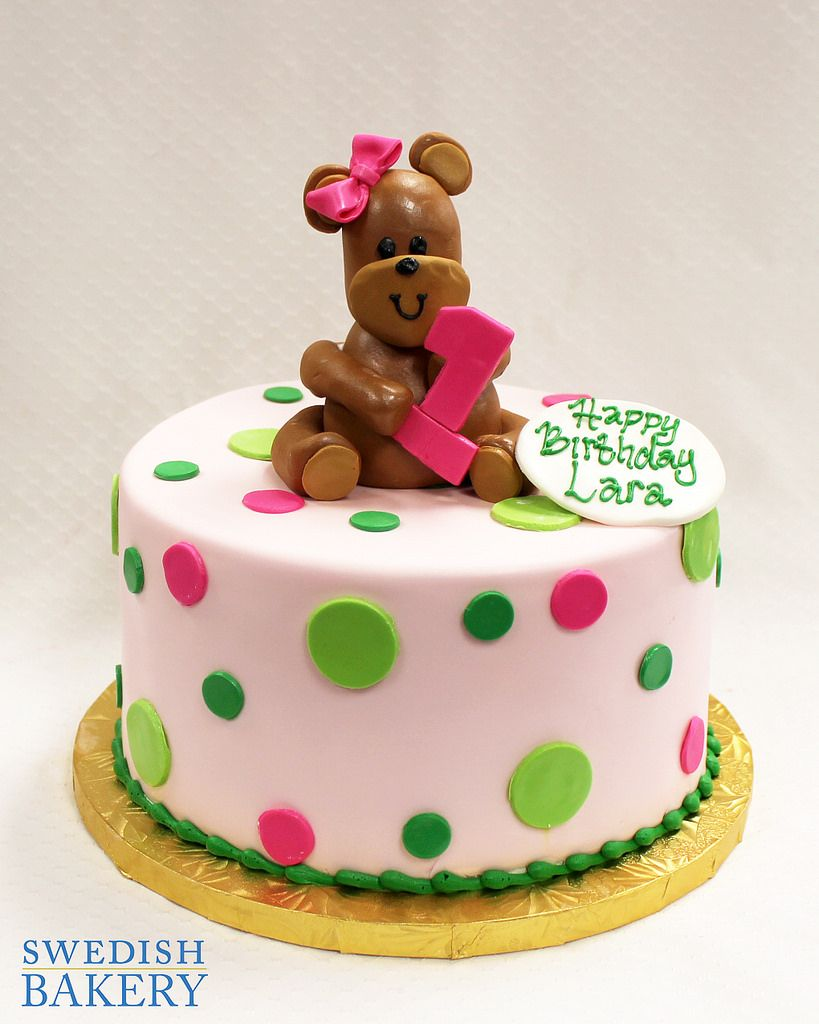 Dots teddy bear teddy bear birthday cake teddy bear