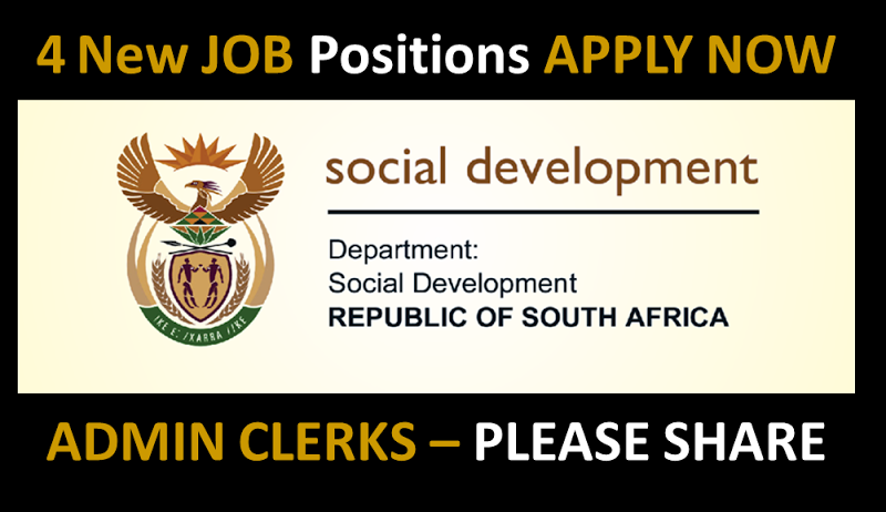 Administration Clerk (4 positions) Department of Social