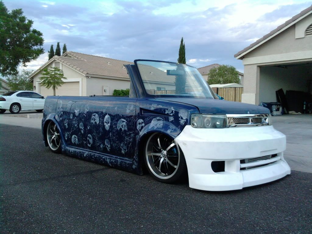 Custom scion xb chopped removable top w rwd v8