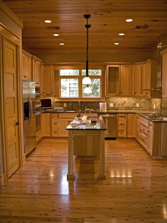 Wonderful Kitchen and Dining Designs Ideas: Amazing Wooden Kitchen Interior Ceiling Lamp Traditional Kitchen And Dining