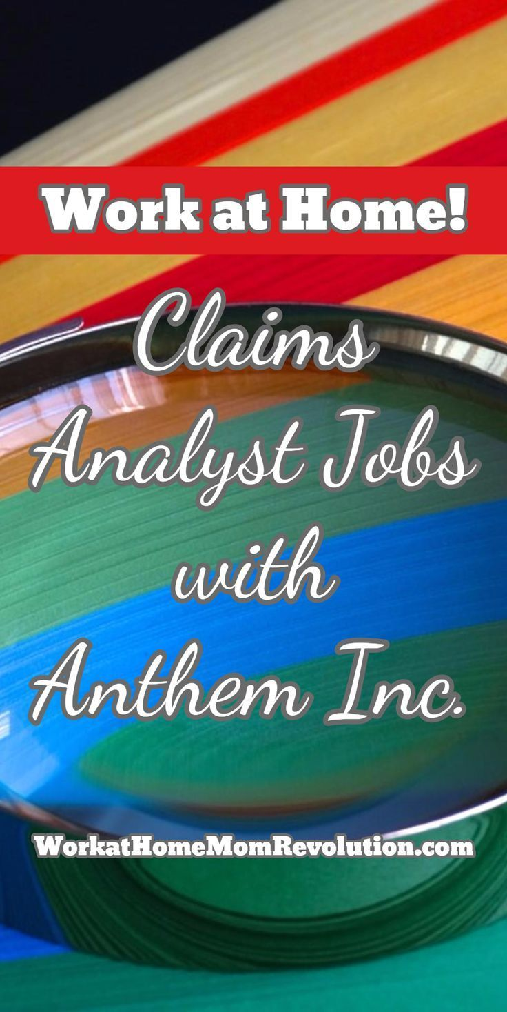 Homebased claims analyst jobs with anthem inc work