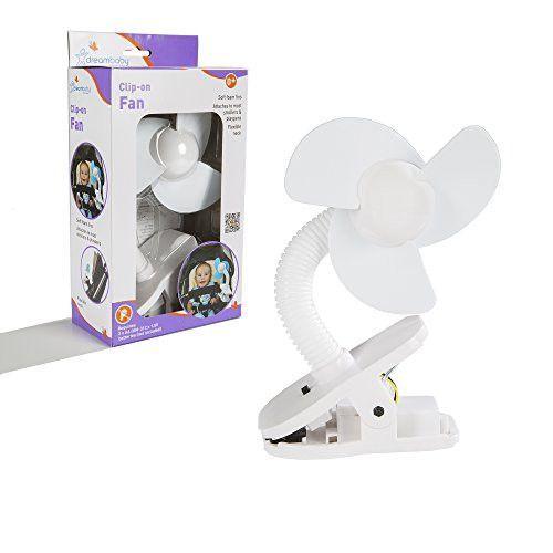 Dreambaby Clip On Stroller Fan White