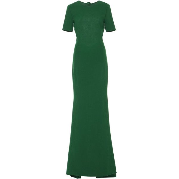 Oscar de la Renta Open Back Short Sleeve Gown (€3.055) ❤ liked on ...