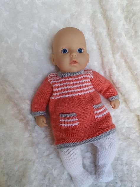 Annabell Dress and tights pattern by linda Mary | Knitting ...