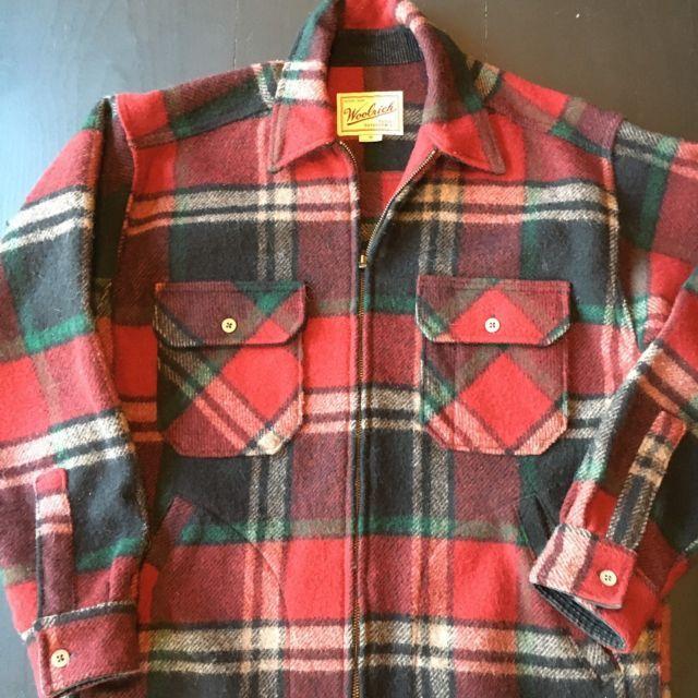0891f6e8eac0f Vintage WOOLRICH Red Green Plaid Wool Hunting Jacket Chore Barn Coat Men's  M | eBay