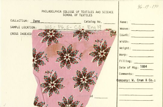 Floral print on cotton. Walter Crum and Co. England. 1884.
