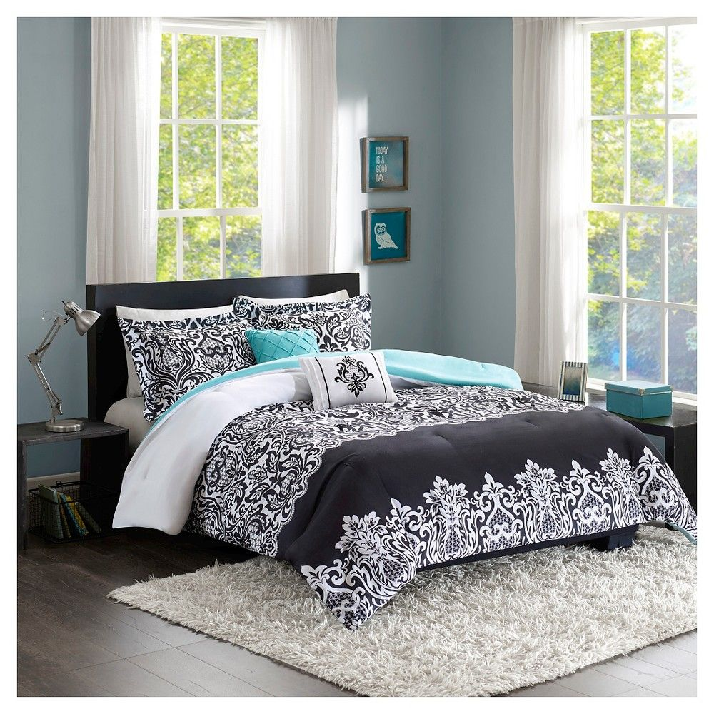 Annie Comforter Set (Twin/Twin Extra Long) 4pc Black