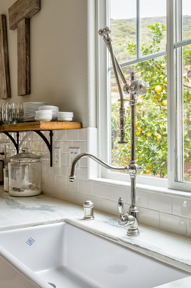 Kitchen Faucet. Kitchen Farmhouse Sink Faucet. Waterstone 4400 DAB  Traditional Gantry Faucet Hook