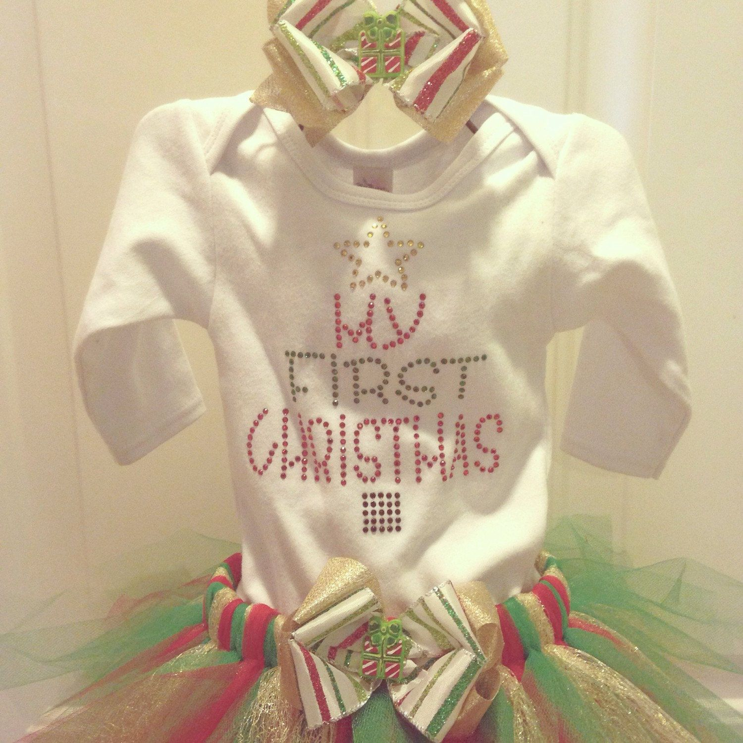 My First Christmas Infant Tutu Outfit on Etsy   LA BOUTIQUE Pin