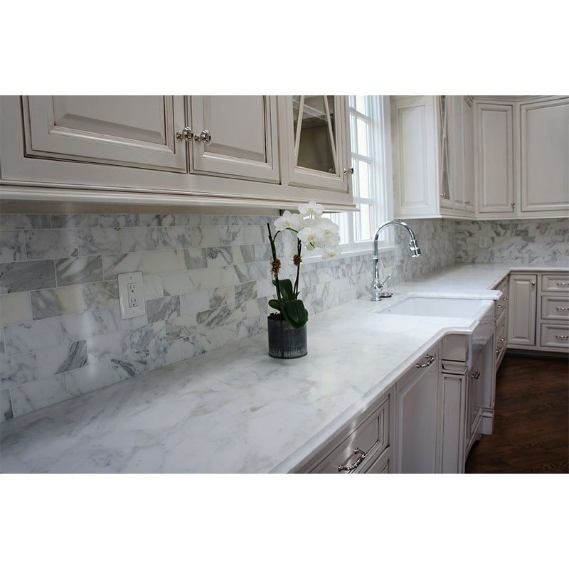 Calacatta Gold Honed Marble Tiles Kitchendesign Kitchen Marble