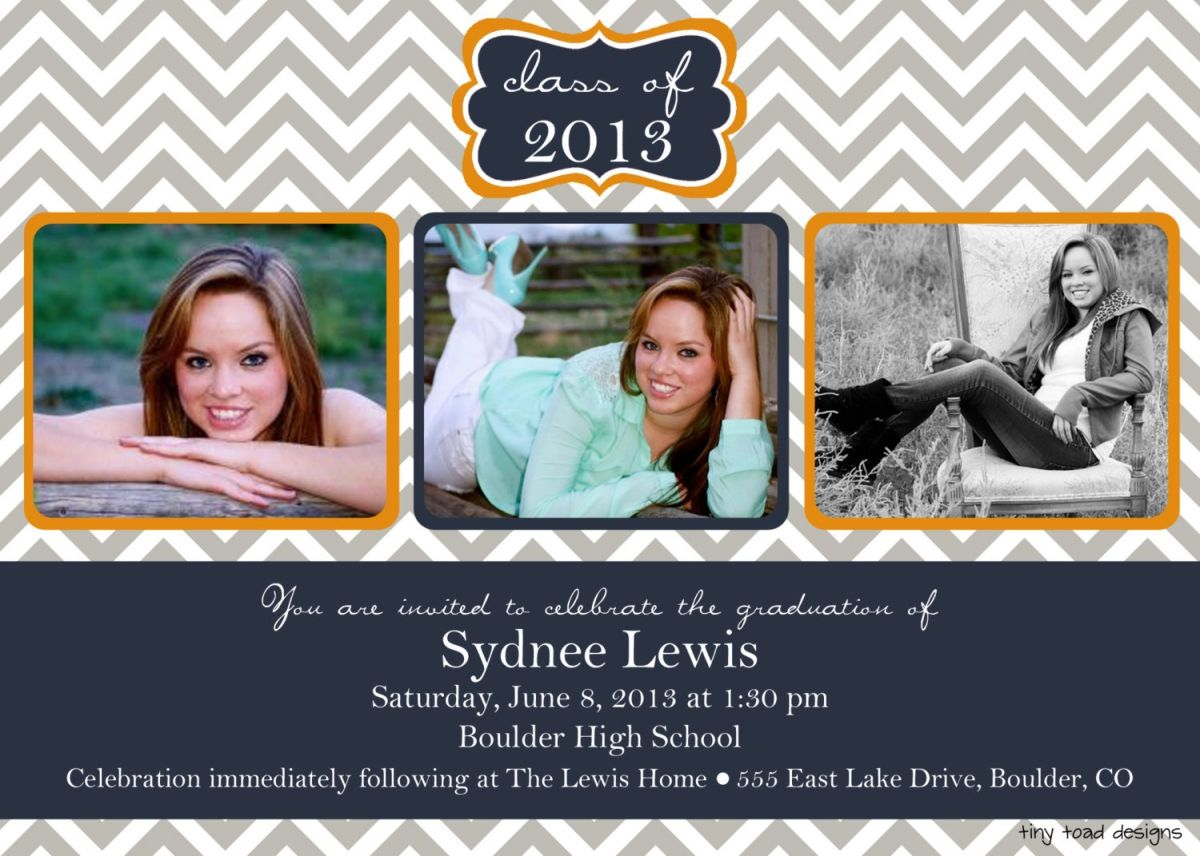 Free printable graduation invitations make your own for Senior announcement templates free