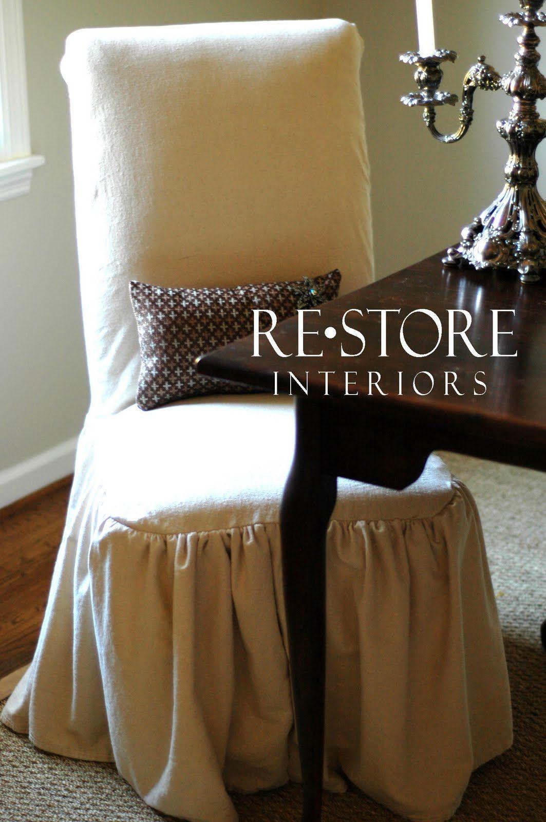 RESTORE INTERIORS: Parson Chair Slip Cover