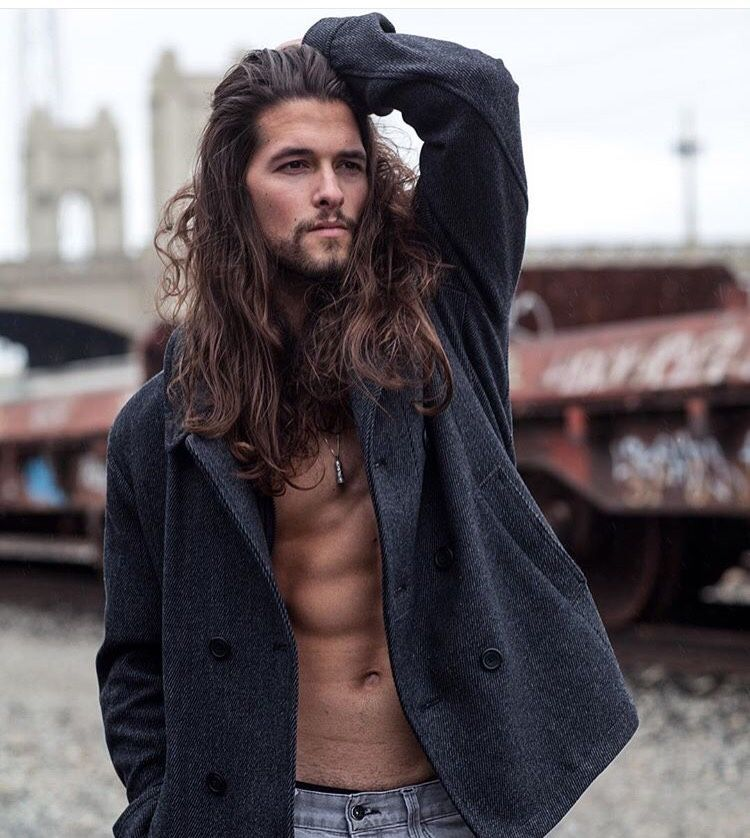 Longhairfordays Brandon Katz Long Hair Styles Men Long Hair Styles Long Hair Male Model