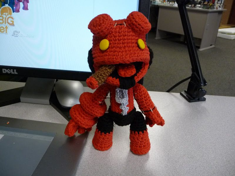 HellSackBoy (Hellboy Little Big Planet Sackboy doll) by causticmuse ...