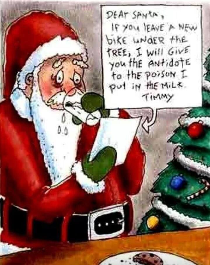 blackmailing santa humor funny christmas cartoons