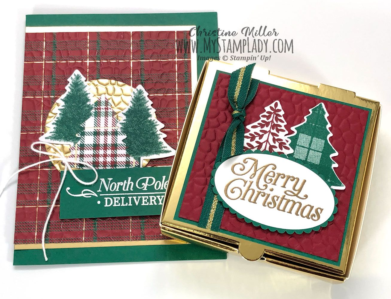 Two Sides Of The Hammered Metal Embossing Folder Plaid Christmas Card Embossing Folder Greeting Cards Handmade