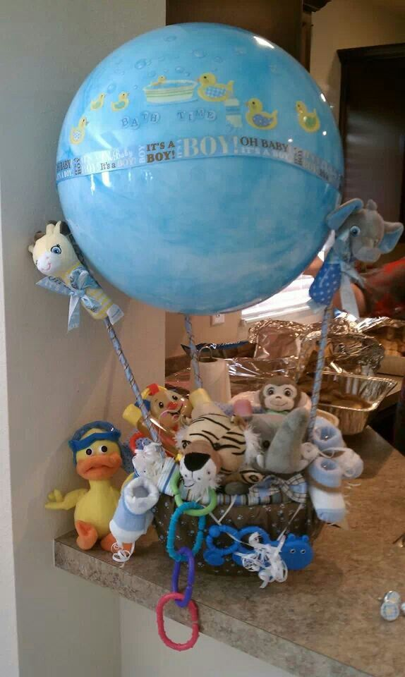 hot air balloon baby shower basket sherry 39 s diaper cakes pinterest baby shower baskets. Black Bedroom Furniture Sets. Home Design Ideas