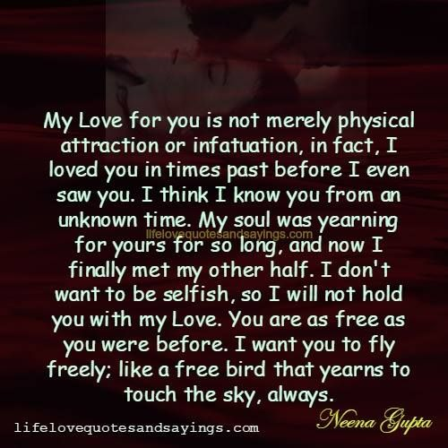 My love is not