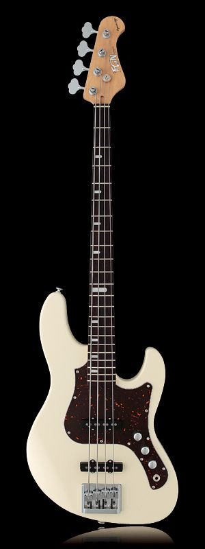 FGN Guitars Expert Series Mighty Jazz Bass EMJ-AL-R Antique White