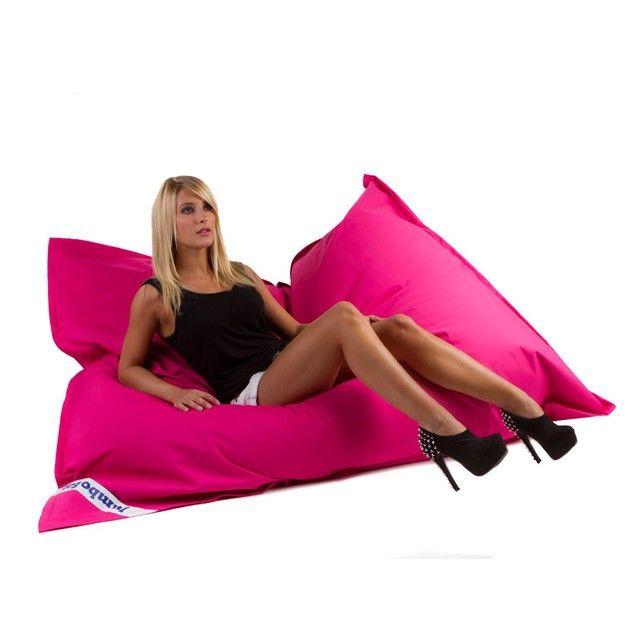 Pouf Design Jumbo Bag Rose Gros Coussin De Sol Gros Coussin Fauteuils Poire Geants