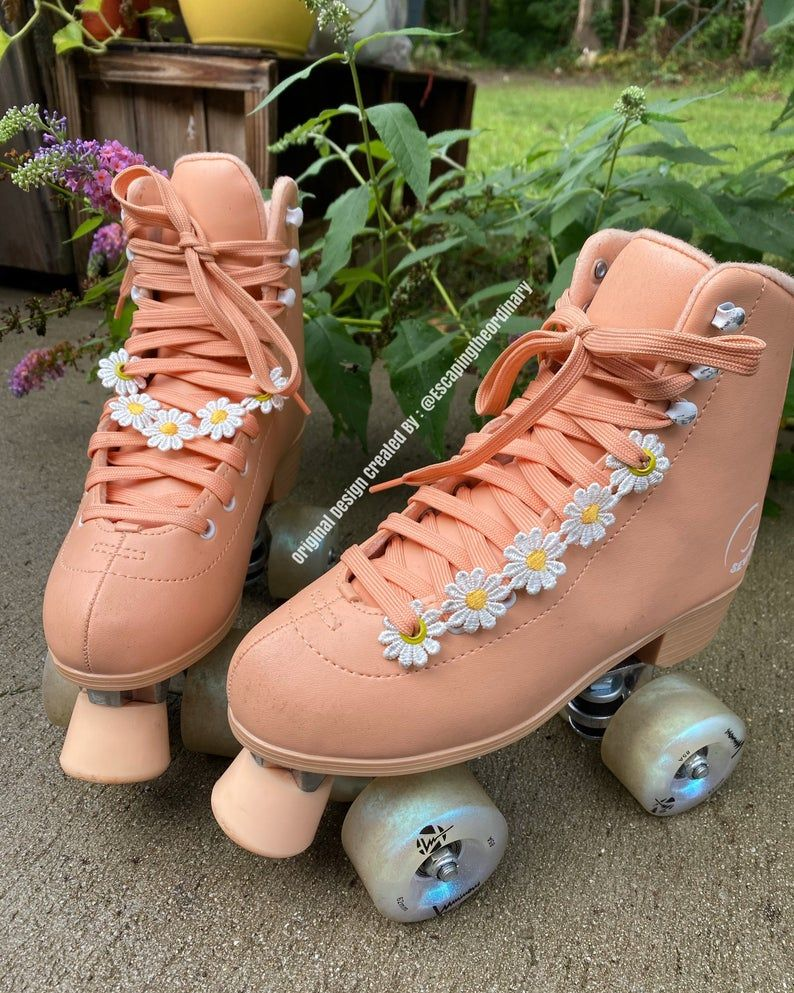 Roller Skate Accessories Daisies 1 Pair Of Daisies Eyelet Etsy In 2021 Roller Skates Fashion Roller Skate Shoes Girls Roller Skates
