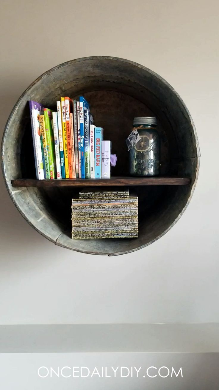 DIY Rustic Wash Tub Shelf. Grants For Woodworkers ...