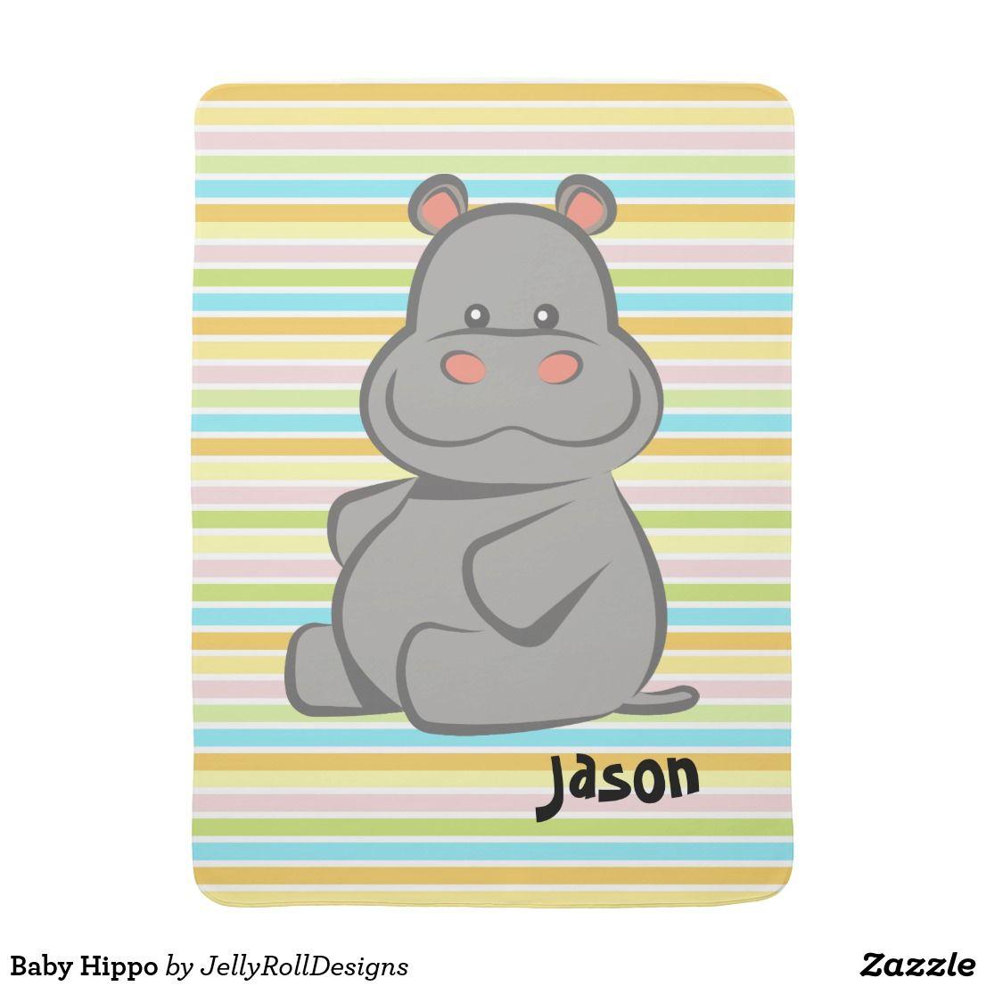 Baby Hippo Baby Blanket | Zazzle.com #babyhippo