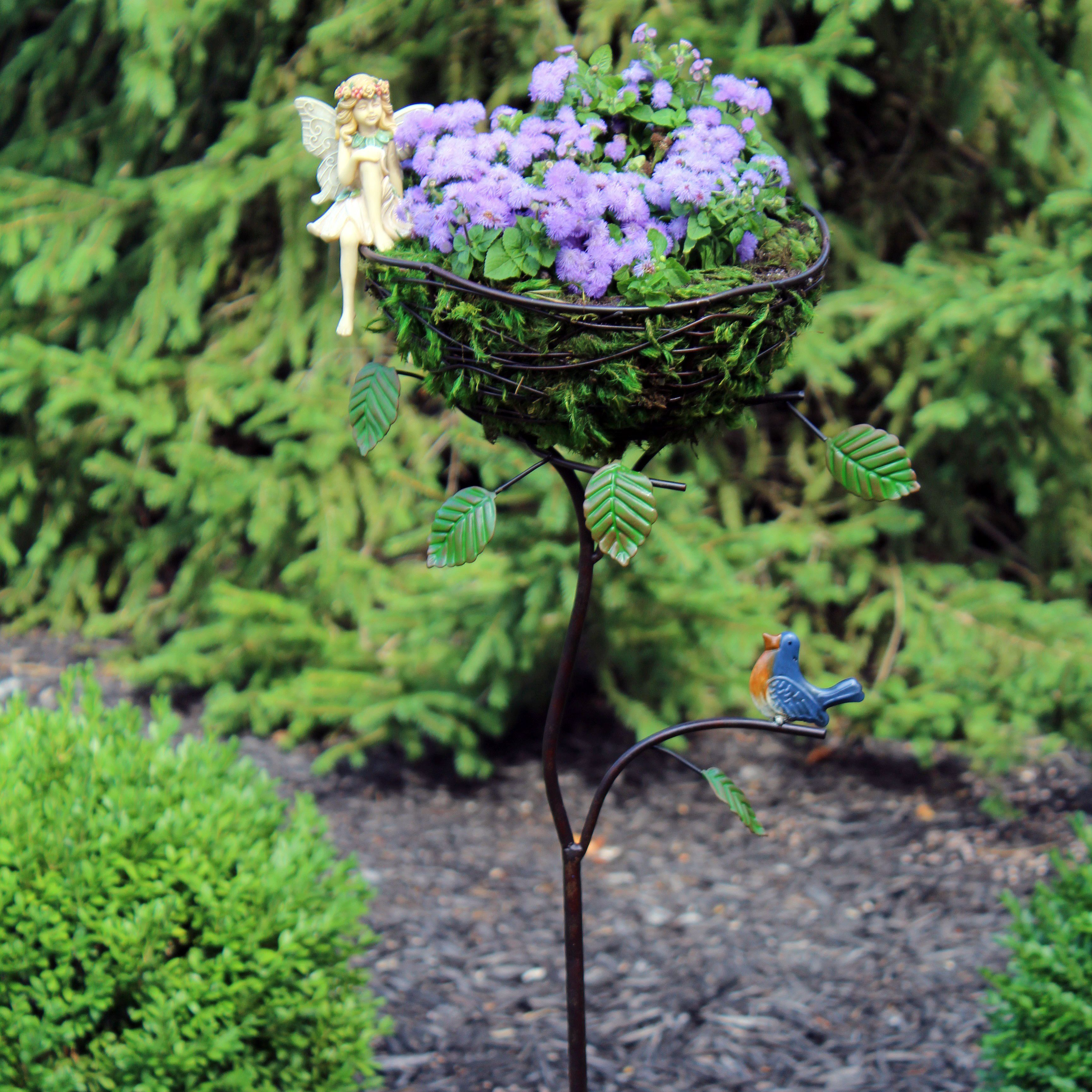 We've added full size items! This a wire planter with fairy.