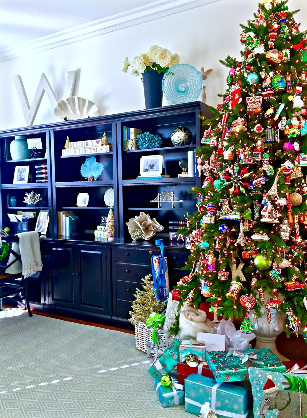 Classic Christmas at home.  http://www.kristywicks.com