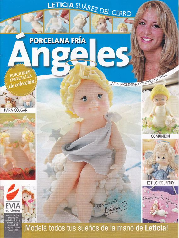 Cold Porcelain Magazine ANGELS (Angeles) by Leticia Suarez del Cerro (Spanish) on Etsy, $12.99