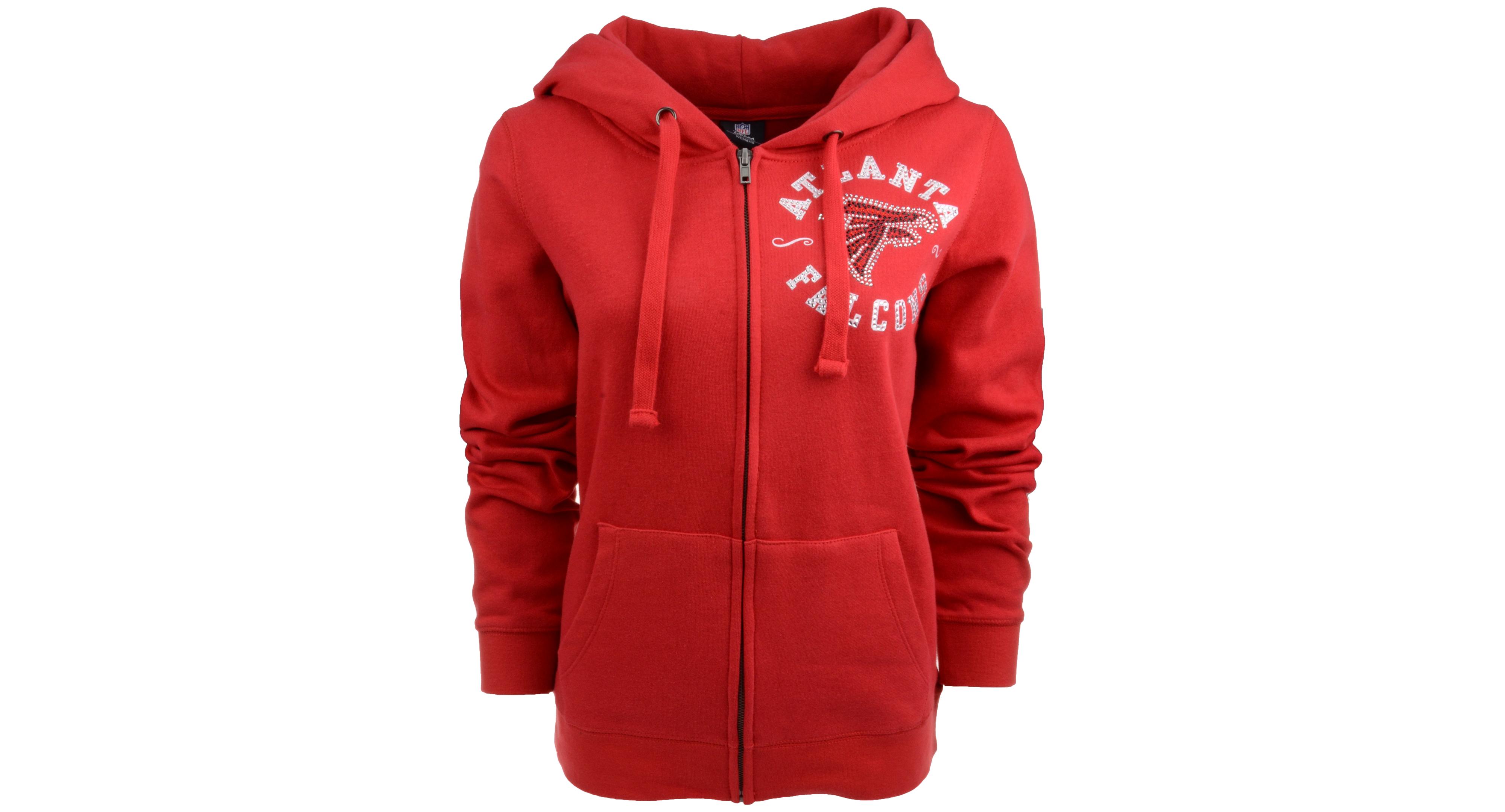 5th & Ocean Women's Atlanta Falcons Fleece Full-Zip Hoodie