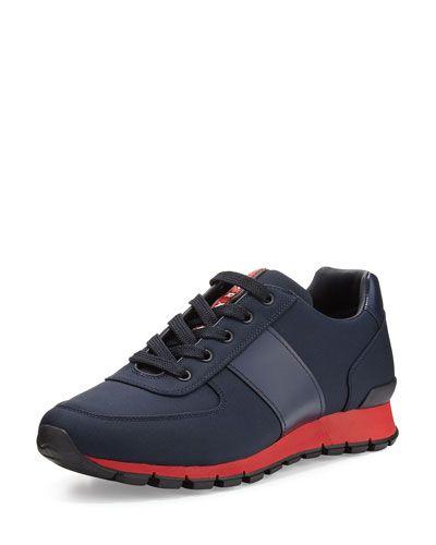 Chaussures De Sport Pour Les Hommes En Vente, Noir, Suède, 2017, 41 42 Prada