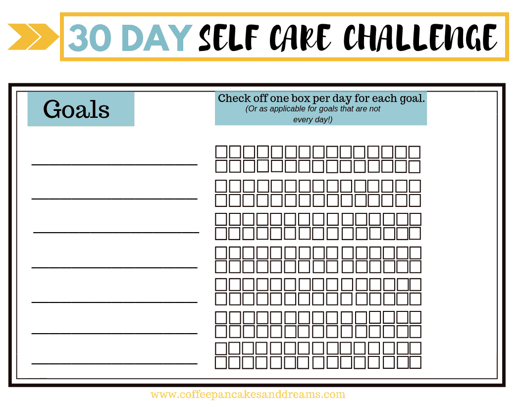 Join The 30 Day Self Care Challenge Free Printable