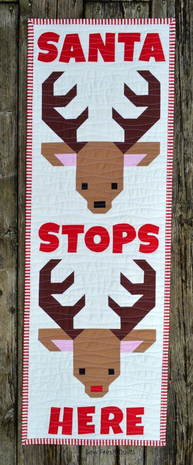 Sew Fresh Quilts: Santa's Reindeer Blocks for 100 Blocks Magazine ... : quilting for christmas magazine - Adamdwight.com