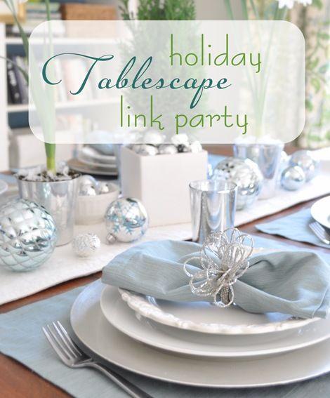 setting the table at Christmas
