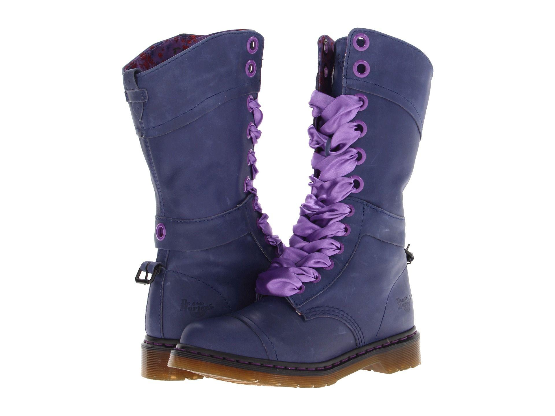 eea986e17e4 more cute purple dr. martens (triumph 1914 w 14-eye boot  160.00