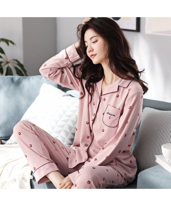 New leisure pure cotton women s pajama sets for women long sleeve ladies   two sets pjs for spring 7841936ed