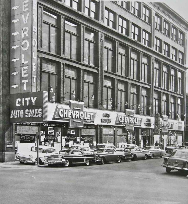1958 City Auto Sales Chevrolet Dealership, Chicago