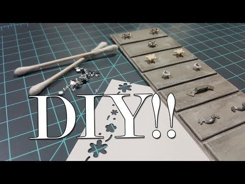 Miniature Furniture Tutorials: 7 DIY Handles for Drawers or Cabinets - YouTube #miniaturefurniture