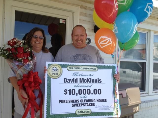 Publishers Clearing House Winners: David McKinnis from Odessa, Texas