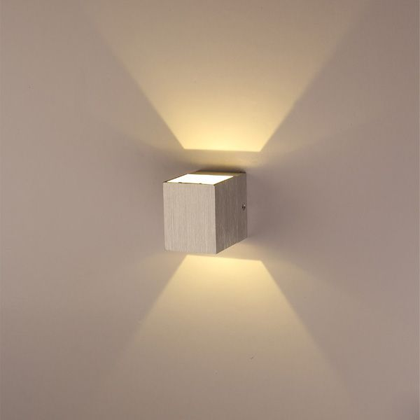 Us 9 97 3w Up And Down Side Aluminum Square Led Wall Light 220