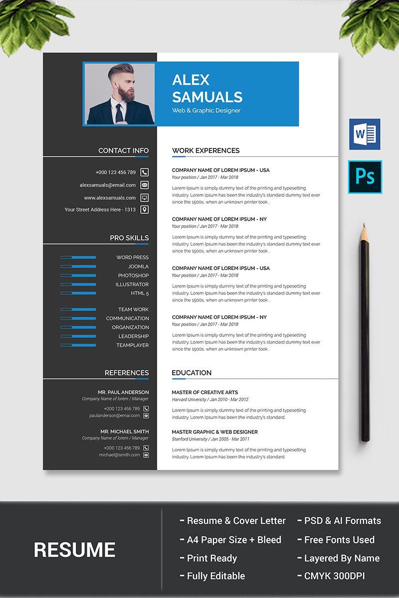 Alex samuals resume template 77085 resume template cv