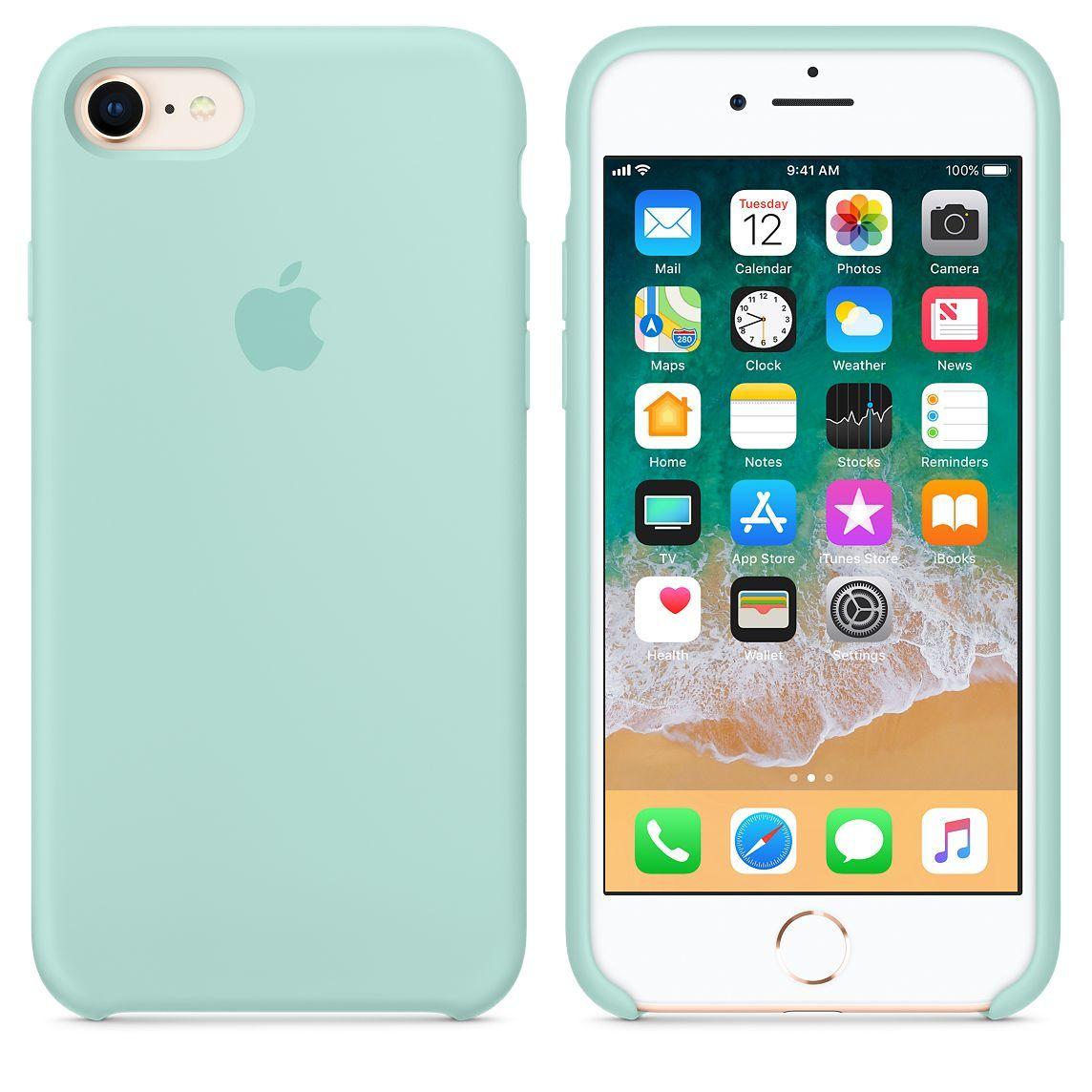 Iphone 8 7 Silicone Case Marine Green Apple Acessorios Iphone Capas Iphone 6 Capinhas Iphone