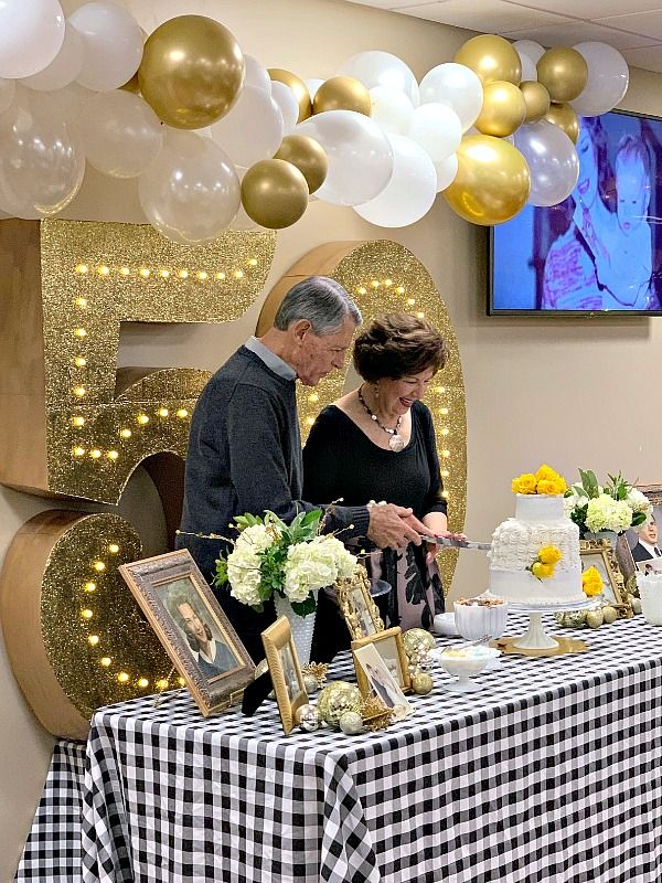 50th Golden Wedding Anniversary Decorations | 50th Golden