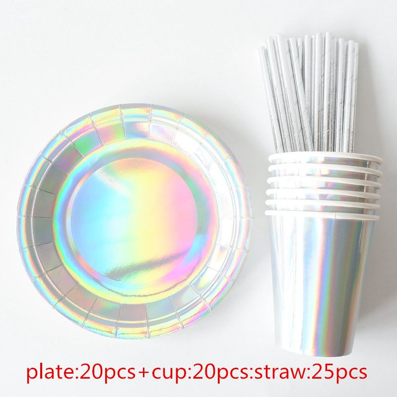 Cheap Disposable Party Tableware Buy Directly From China Suppliers 65pcs Bronzing Silver Disposable Tableware Paper Plates Party Birthday Cup Party Tableware