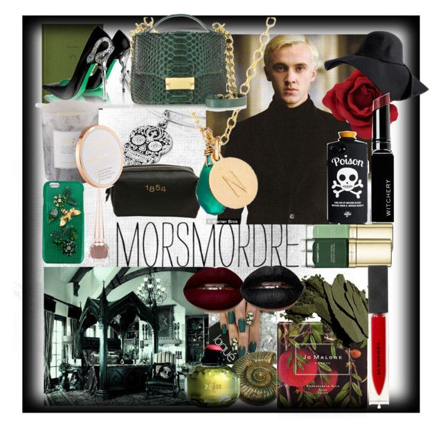 """""""Morsmordre"""" by slytherinemily on Polyvore featuring interior, interiors, interior design, home, home decor, interior decorating, School of Life, Dolce&Gabbana, Alex and Ani and Yves Saint Laurent"""